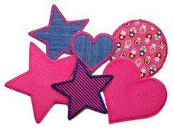Hosenflicken für Mädchen in pink