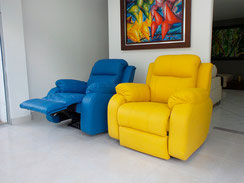 Sofa Reclinable en Cuero