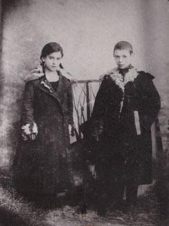 Зоя и я в 1925 году.