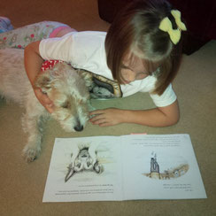 Mini Matilda and Jack reading Rescue Paddy from the Jack, Lilly and Friends series.