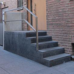 eingang treppe schellevis stahl geländer düsseldorf niederkassel beton stehle