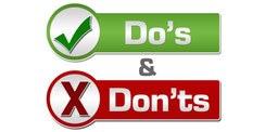 Do's and Don'ts What we Cover and What we Don't