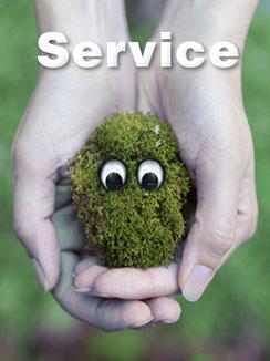 Service für unsere Kunden mit Lieferservice, Werkstatt, Verleih, Installation, Beratung und Hilfe.