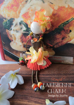 ourFin PARISIENNE CHARM パリジェンヌチャーム ビーズレッスン ビーズ人形 ビーズ フランスビーズ チェコビーズ ビーズレッスン