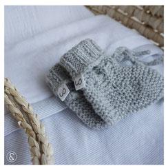 babyslofjes gebreide slofjes babysokjes baby sokken