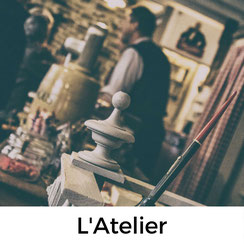 L'Atelier, Cafe und Museum in Carentan, Normandie