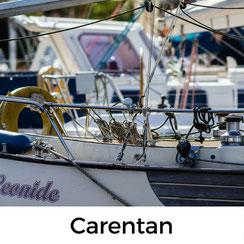 Urlaub mit Hund auf dem Cotentin: Die Hafenstadt Carentan ist über einen Kanal mit dem Meer verbunden