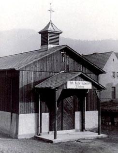 dudweiler, notkirche, st. barbara, rentrischer straße, 1952