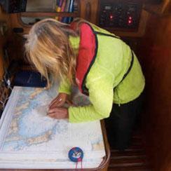 Faire le point sur carte marine