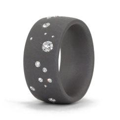 Sternenhimmel Ring mit Diamanten aus altem Schmck