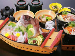 「鯛の姿造り舟盛り」和膳プラン