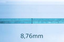 VSG Floatglas schwarz 8.76 mm
