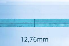 VSG Floatglas schwarz 12.76 mm