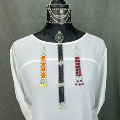 Anhänger, Edelsteine, Kristalle, Silber, Silber vergoldet, handgefertigt, Designerschmuck