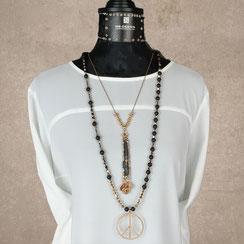 Halsketten, Damen Halsketten, Edelsteine, Silber, Silber vergoldet, handgefertigt, Designerschmuck