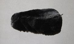 Housse Couvre selle de mouton en peau de mouton teintée noir poils ras VTT VTC VILLE