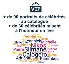 catalogue et portraits de stars