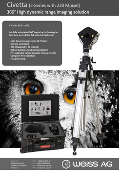Civetta best 360° digital imaging camera