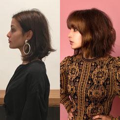 Haarschnitt: MODERN TEXTURED BOB - Curtain Fringe (Vorhangpony)  - cool movement, Haarfarbe: SOFT CONTOUR - warmes Braun - Honigblond