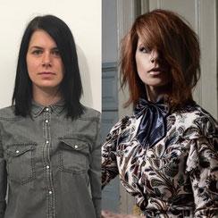 Haarschnitt: Transient-Cut Layered-Hairstyle, Haarfarbe: kühles Ginger