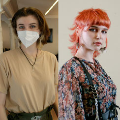 Haarschnitt: MODERN MULLET #YOUNGARTIST #CUTTINGEDGE, Haarfarbe: BLEACH & CREATIVE TONE - PEACH COLOUR