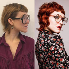 Haarschnitt: Mullet Inpired Pixie-Cut, Haarfarbe: Gingerhair
