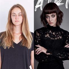 Extravant. Stark. Stilsicher. Ein PerfectMatch für Katrin's Haarstil. Kreiert von Alexander Lepschi.