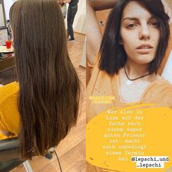 Haarschnitt: TEXURIERTER LONGBOB - BEWEGUNG, Haarfarbe: KÜHLES BRAUN in CENDRÉ-SCHOKO