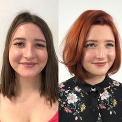 Haarschnitt: Bob-Cut Classic-Bob Quiff Copperhair, Haarfarbe: Copperred-Hair