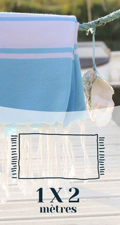 Fouta traditionnelle 1x2m