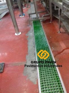 GRUPO PAVIN - Pavimentos Industriales | Reparaciones para industria cárnica - Estado del pavimento antes de la reparación