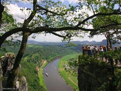 Elbsandsteingebirge, Blick auf die Elbe