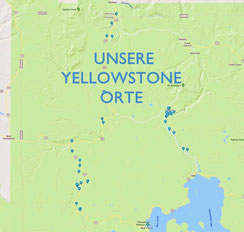 Yellowstone Tipps Google Map Karte
