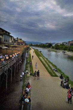 Sommerabend am Kamo-Fluss