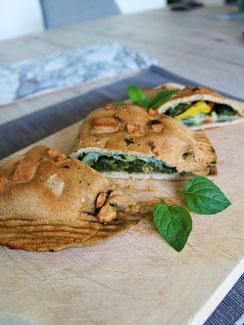 Dinkel Empanadas mit Spinat
