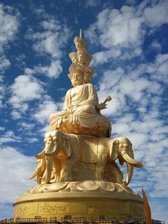 中国峨眉山(がびさん)の普賢菩薩
