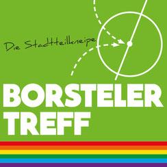 Farbiges Logo der Stadtteilkneipe Borsteler Treff in Klein Borstel