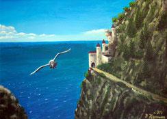 Die Festung, Acryl auf Leinwand 50x70