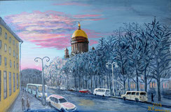 St. Petersburg, Acryl auf Leinwand, 50x70