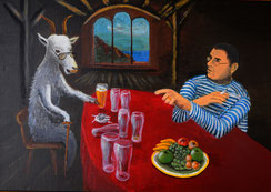 Die Philosophen, Acryl auf Leinwand 50x70
