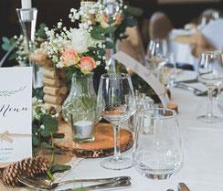 Table de repas de fêtes, repas de famille