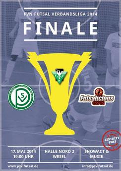 Das Plakat zum letzten Spieltag (Grafik: PSV Wesel-Lackhausen Futsal)