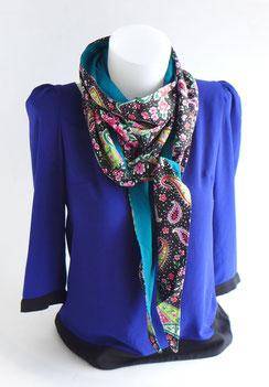 Foulard femme tissu japonais rose violet | Une Embellie