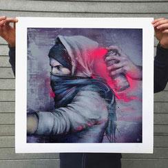 BLOWBACK reproduction d'art print impression affiche art edition imiée cadre pas cher streetart art contemporain poster exemplaire numéroté série limitée