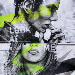 streetart graffiti graffmatt tableau d'art contemporain portrait briquet bic artiste peintre chambéry lyon france