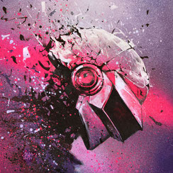 daft punk art print epilogue electro music techno french touch france streetart drawing illustration robot geek art limited edition tirage d'art reproduction artistique