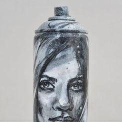 custom spray can bombe peinture customisée œuvre originale artistique objet design streetart graffiti savoie chambéry lyon france rhone alpes graffmatt