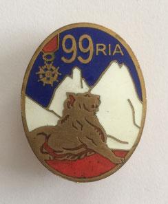 Insigne du 99e R.I.A. avec Légion d'Honneur, fin 1938 (Coll. priv. 001)