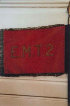 Fanion de l'EMT 2 - revers (Fonds J. Chazit)