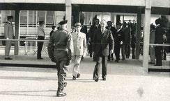 Accueil du Président de la République, Valéry GISCARD D'ESTAING,  à Lyon-Bron